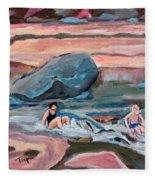 Momma At Slide Rock Park Arizona Fleece Blanket