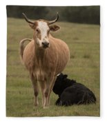 Momma Cow Fleece Blanket