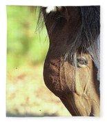 Momma Horse  Fleece Blanket