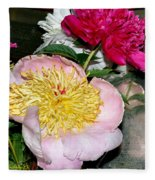 Mom's Peonies Fleece Blanket