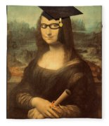 Mona Lisa  Graduation Day Fleece Blanket