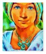 Mona Lisa Young - Pa Fleece Blanket
