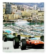 Monaco Grand Prix Racing Poster - Original Art Work Fleece Blanket