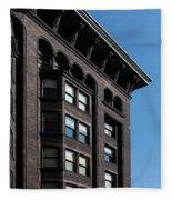 Monadnock Building Cornice Chicago B W Fleece Blanket