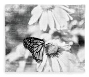 Monarch Butterfly Art 2 Fleece Blanket