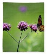 Monarch Butterfly Balanced 2017 Fleece Blanket
