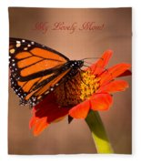 Monarch On Tithonia Mother's Day Gifts Fleece Blanket