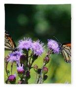 Monarchs And Blazing Star Fleece Blanket