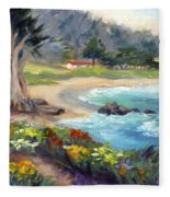 Monastery Beach, Carmel Fleece Blanket