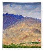 Monastery In The Mountains Fleece Blanket