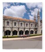 Monastery Of The Hieronymites Lisbon 5 Fleece Blanket