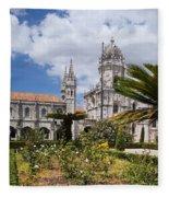 Monastery Of The Hieronymites Lisbon 6 Fleece Blanket