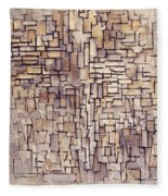 Mondrian: Composition, 1913 Fleece Blanket