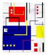 Mondrian Redux Fleece Blanket
