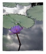 Monet Lily Pond Reflection  Fleece Blanket