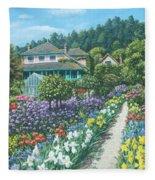 Monet's Garden Giverny Fleece Blanket