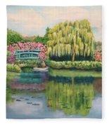 Monet's Summer Garden No.2 Fleece Blanket