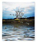 Money Tree On A Windy Day Fleece Blanket