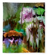 Monkey In My Heart Fleece Blanket