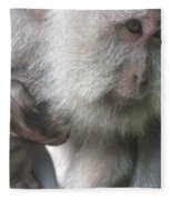 Monkey Mother 3 Fleece Blanket