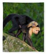 Monkey On My Back Fleece Blanket