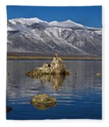 Mono Lake Pano Fleece Blanket