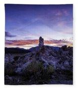Mono Lake Sunset 4 Fleece Blanket