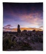 Mono Lake Sunset 5 Fleece Blanket