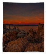 Mono Lake Sunset Fleece Blanket