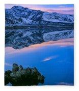 Mono Lake Twilight Fleece Blanket
