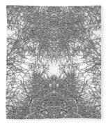 Mono Trees Fleece Blanket