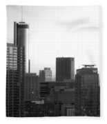 Monochrome City Fleece Blanket