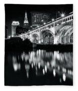 Monochrome Cleveland Fleece Blanket
