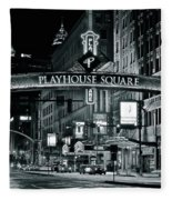 Monochrome Grayscale Palyhouse Square Fleece Blanket