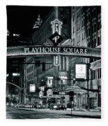 Monochrome Grayscale Palyhouse Square Fleece Blanket
