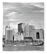 Monochrome Pittsburgh Panorama Fleece Blanket