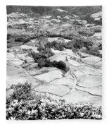 Monochrome Valley Fleece Blanket