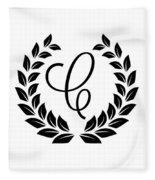 Monogram C Fleece Blanket
