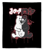 Monokuma Fleece Blanket