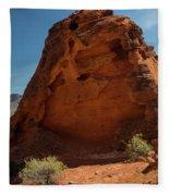 Monolith Sculpture Valley Of Fire Fleece Blanket