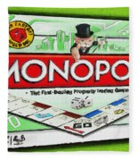 Monopoly Board Game Painting Fleece Blanket
