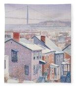 Monroe St Staten Island Fleece Blanket