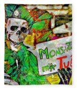 Monsanto Killed Me Fleece Blanket