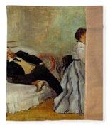 Monsieur And Madame Edouard Manet Fleece Blanket by Edgar Degas