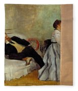 Monsieur And Madame Edouard Manet Fleece Blanket