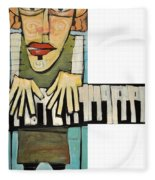 Monsieur Keys Fleece Blanket