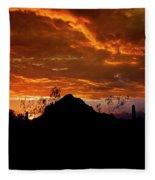 Monsoon Sunset  Fleece Blanket