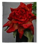 Monster Red Flower Fleece Blanket