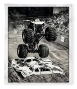 Monster Truck 1b Fleece Blanket
