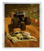 Monster Truck 2a Fleece Blanket